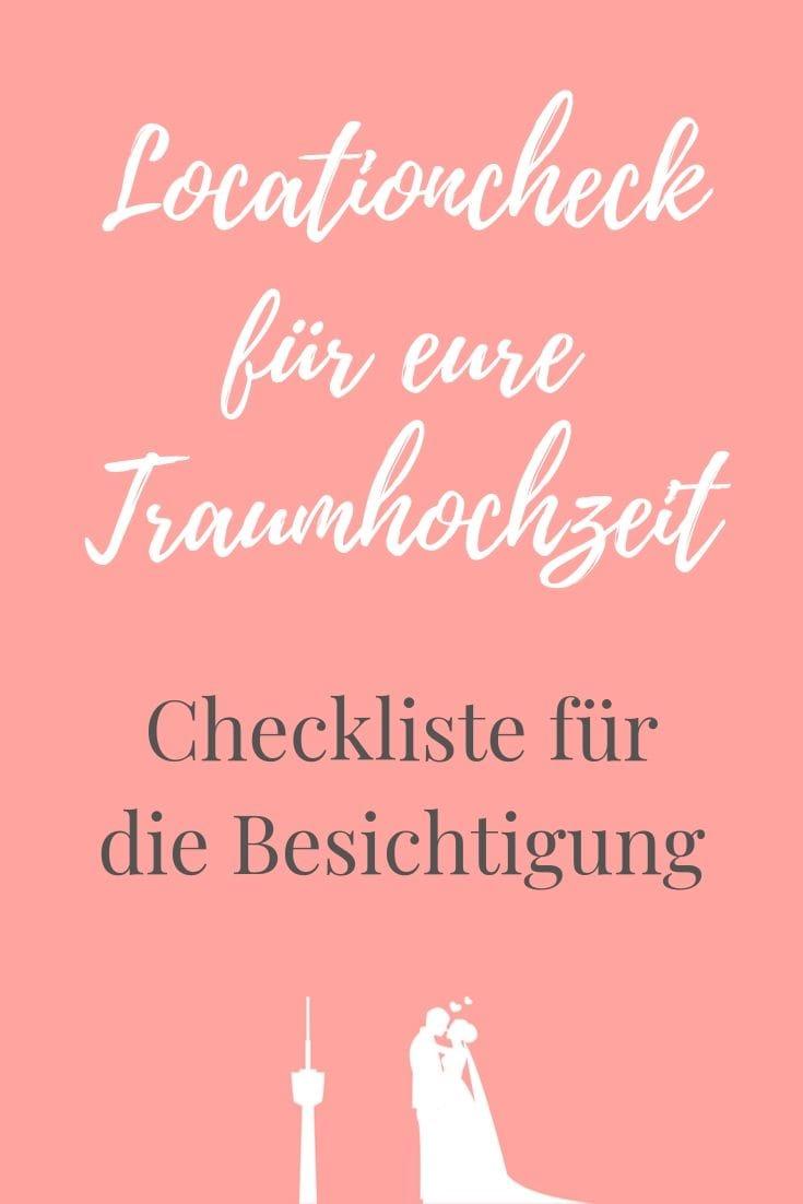 Locationcheck für eine Traumhochzeit in Stuttgart - Checkliste für die Besichtigung