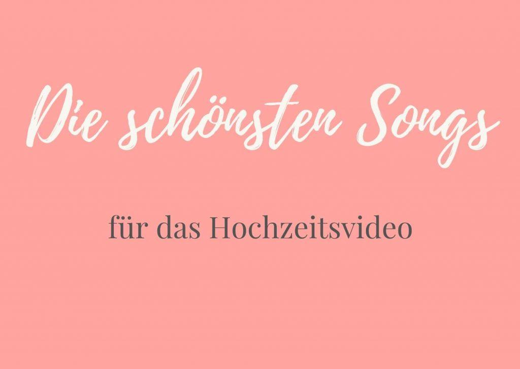 schöne Songs für Hochzeitsvideo, Hochzeitsmusik